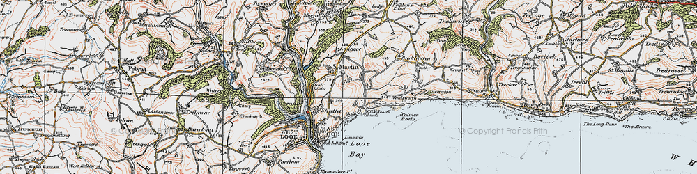 Old map of Windsworth in 1919