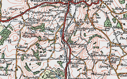 Old map of Alton Manor in 1921