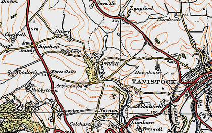 Old map of Artiscombe in 1919