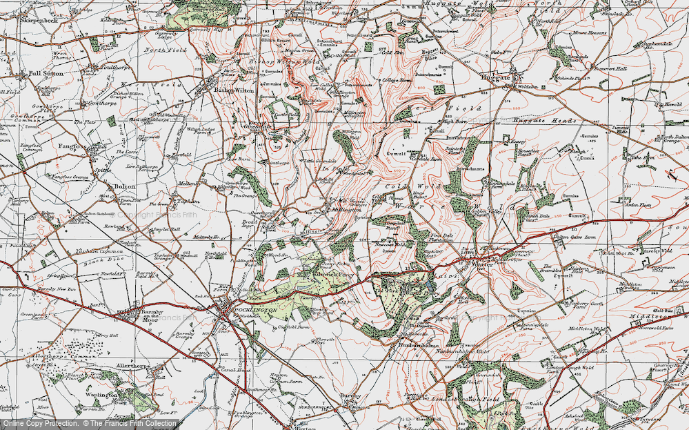 Old Map of Historic Map covering Lings Plantn in 1924