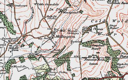 Old map of Whitekeld Dale in 1924