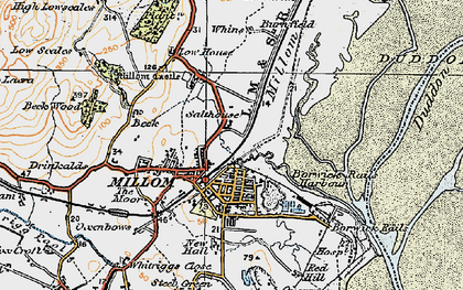 Old map of Millom in 1925