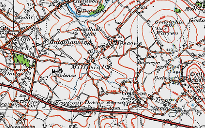 Old map of Millpool in 1919