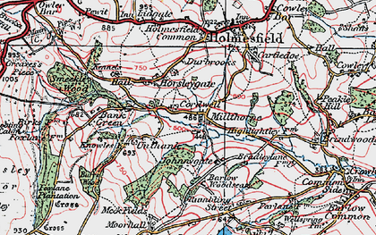 Old map of Millthorpe in 1923