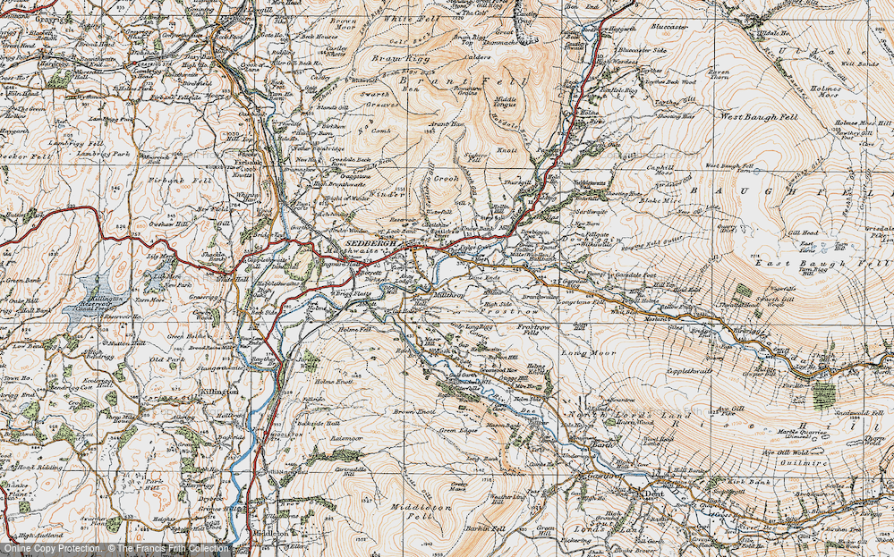 Old Map of Historic Map covering Lane Ends in 1925