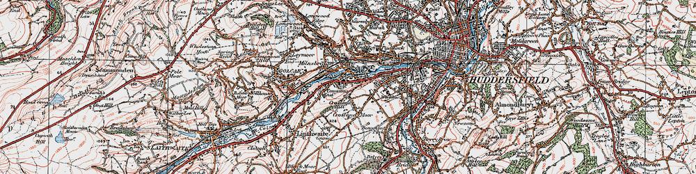 Old map of Milnsbridge in 1925