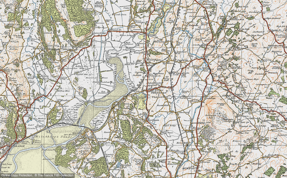 Old Map of Milnthorpe, 1925 in 1925