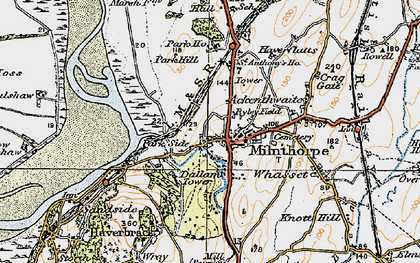 Old map of Milnthorpe in 1925