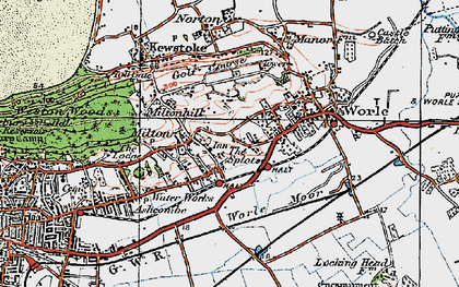 Old map of Airfield (disused) in 1919