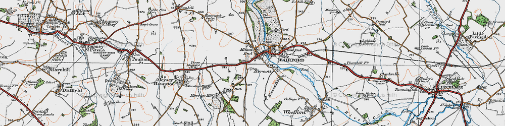 Old map of Toms Copse in 1919