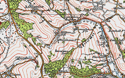 Old map of Ashcombe Tower in 1919