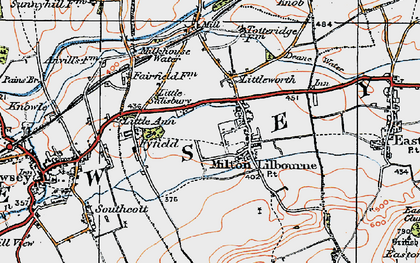 Old map of Milton Lilbourne in 1919
