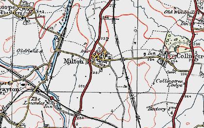 Old map of Milton Malsor in 1919