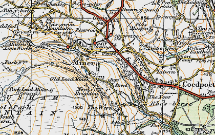Old map of Minera in 1921