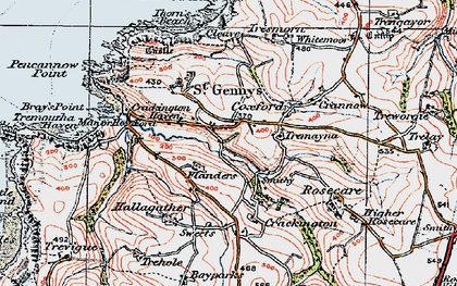 Old map of Mineshope in 1919