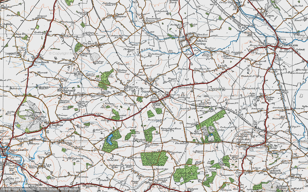 Minety wiltshire map