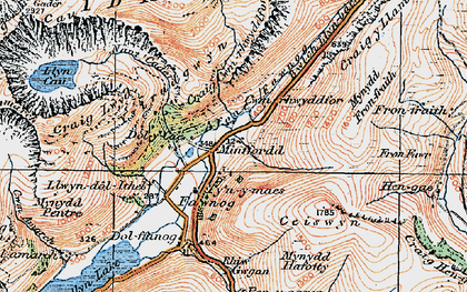 Old map of Afon Fawnog in 1921