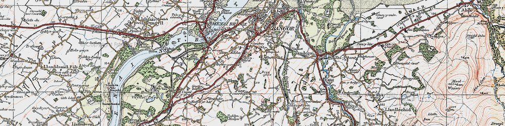 Old map of Minffordd in 1922