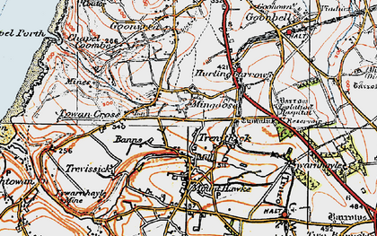 Old map of Mingoose in 1919