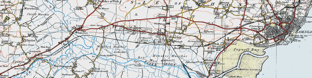 Old map of Abbot's Wall in 1920