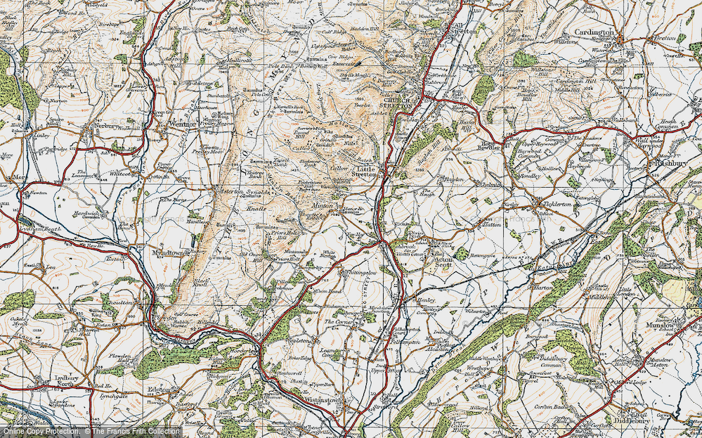 Old Map of Historic Map covering Oakwood in 1920