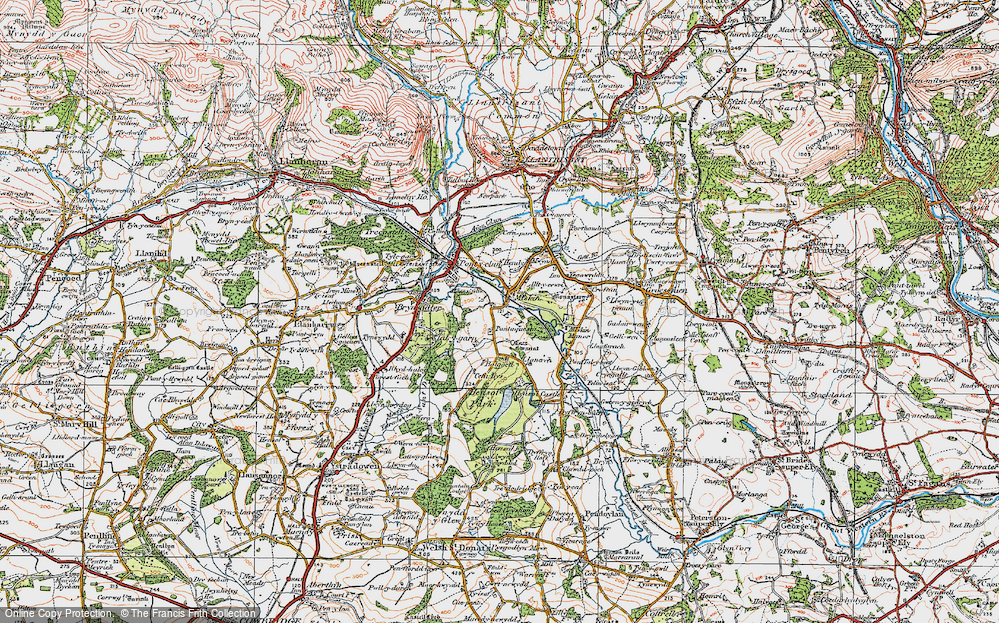 Old Map of Miskin, 1922 in 1922