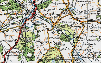 Old map of Miskin in 1922