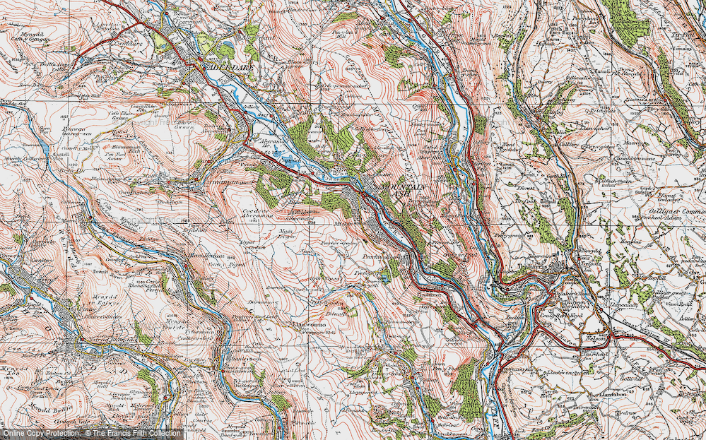 Old Map of Miskin, 1923 in 1923