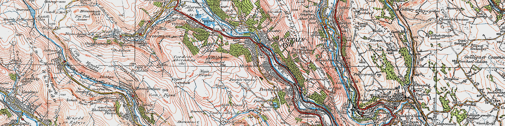 Old map of Miskin in 1923