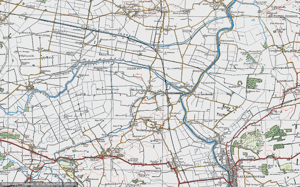 Old Map of Misterton, 1923 in 1923