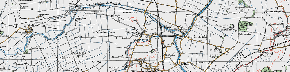 Old map of Misterton in 1923