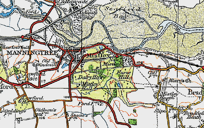 Old map of Mistley in 1921