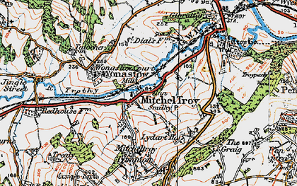 Old map of Mitchel Troy in 1919