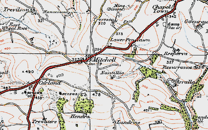 Old map of Mitchell in 1919