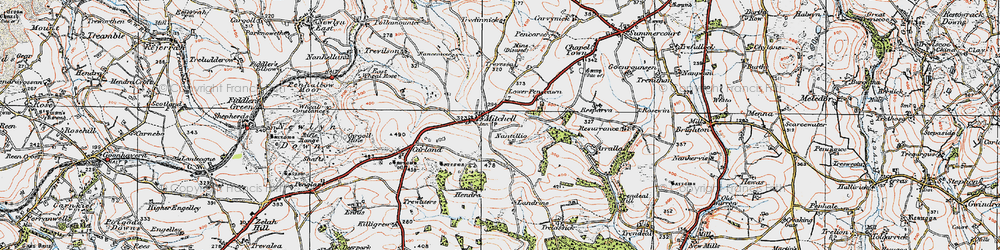 Old map of Winsford in 1919