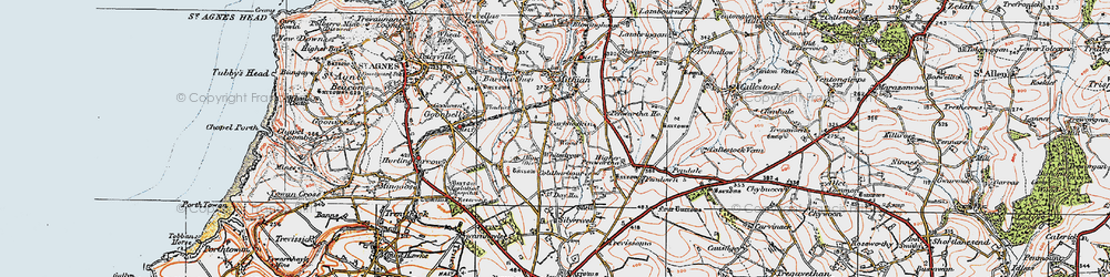 Old map of Whitestreet in 1919