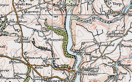 Old map of Mixtow in 1919