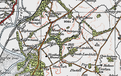 Old map of Liddel Strength in 1925