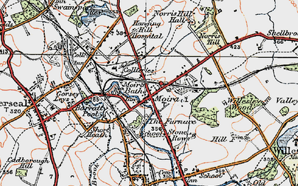Old map of Ashby-de-la-Zouch Canal in 1921