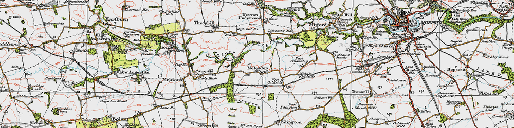 Old map of Lightwater Ho in 1925