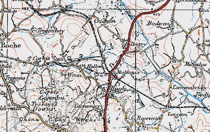 Old map of Molinnis in 1919
