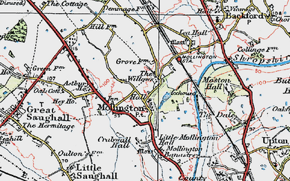 Old map of Astbury Ho in 1924