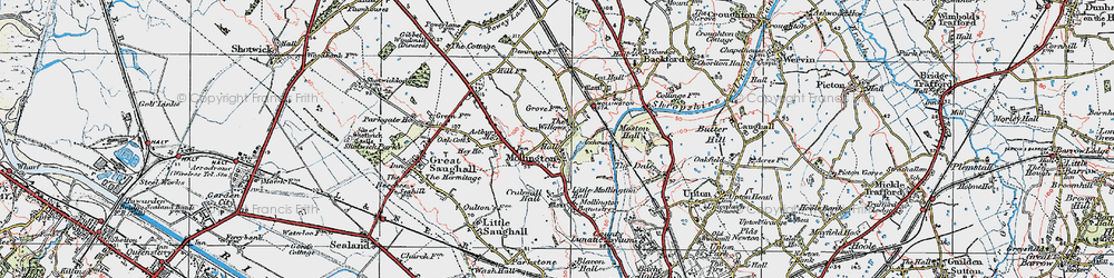 Old map of Willows, The in 1924
