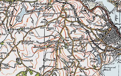 Old map of Mongleath in 1919