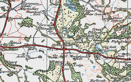 Old map of Alderley Park in 1923