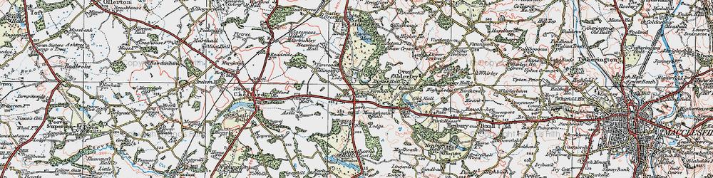 Old map of Alderley Park in 1923