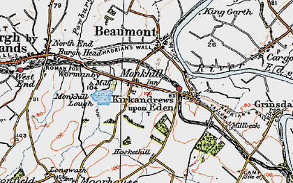 Old map of Wormanby in 1925