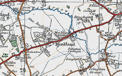 Old map of Monkland in 1920
