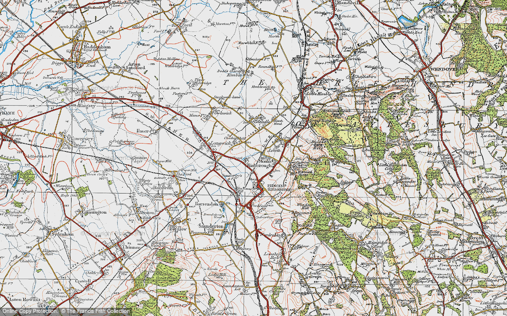Old Map of Monks Risborough, 1919 in 1919