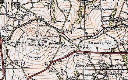 Old map of Monkscross in 1919